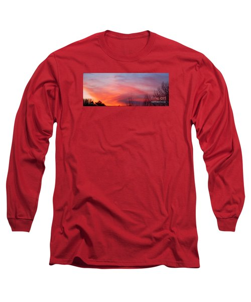 Panorama Sunset  Long Sleeve T-Shirt by Yumi Johnson