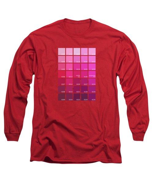 Pantone Shades Of Pink Long Sleeve T-Shirt
