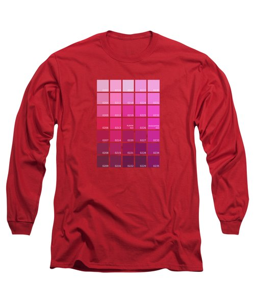 Pantone Shades Of Pink Long Sleeve T-Shirt