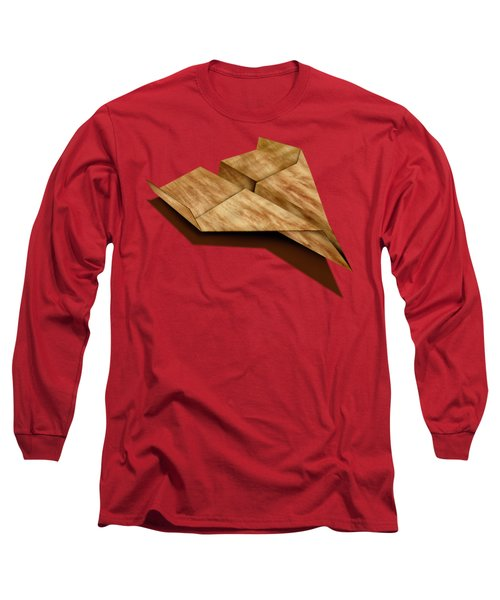 Paper Airplanes Of Wood 5 Long Sleeve T-Shirt by YoPedro