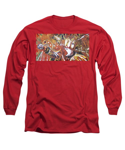 Leader Of The Mardi-gras Long Sleeve T-Shirt by Gary Smith