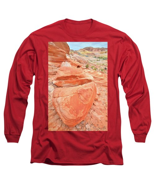 Long Sleeve T-Shirt featuring the photograph Park Road View In Valley Of Fire by Ray Mathis