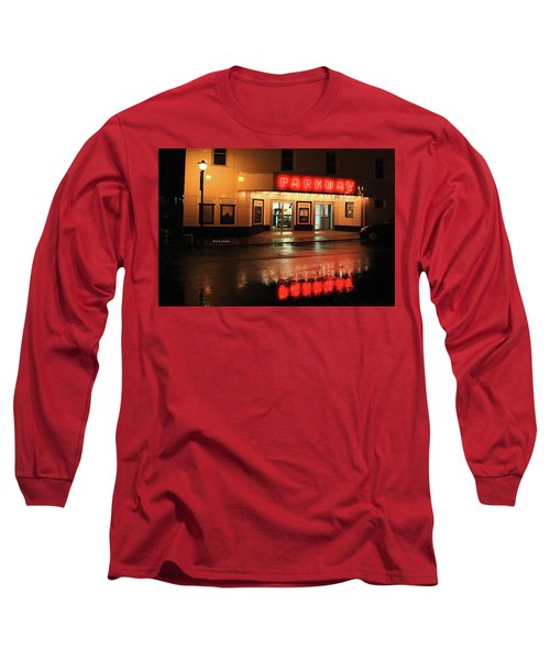 Parkway Night Long Sleeve T-Shirt by Dale R Carlson