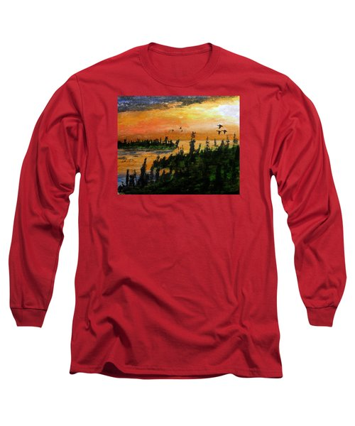 Passing The Rugged Shore Long Sleeve T-Shirt by R Kyllo