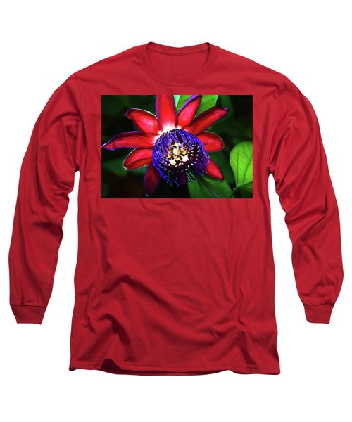 Long Sleeve T-Shirt featuring the photograph Passion Flower by Anthony Jones