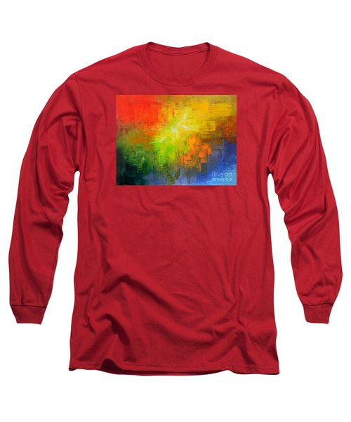 Long Sleeve T-Shirt featuring the painting Passionate Plumage by Tatiana Iliina