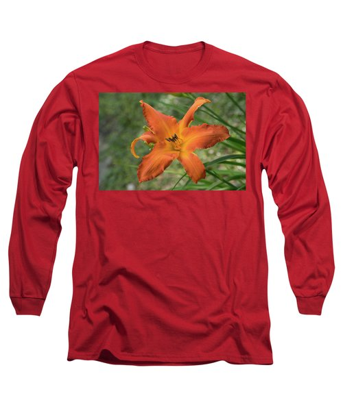 Pastel Orange Lily Long Sleeve T-Shirt