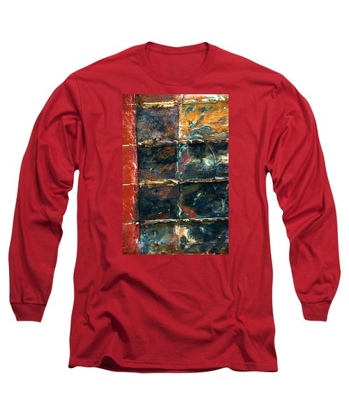 Patchworks 4 Long Sleeve T-Shirt by Newel Hunter