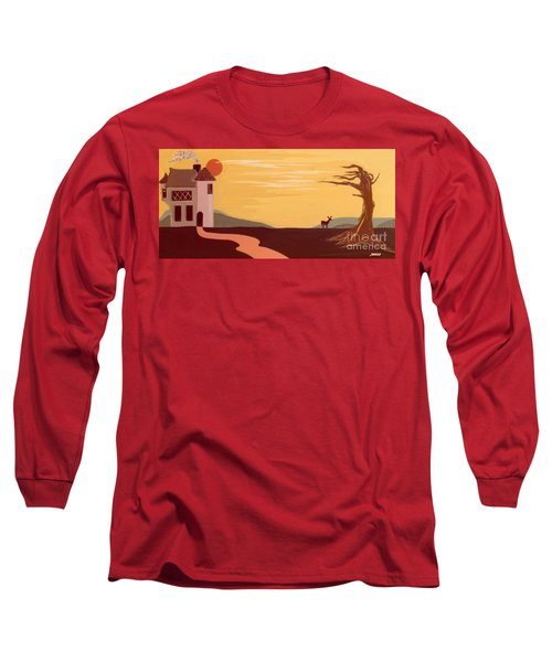 Cartoon Castle Long Sleeve T-Shirt