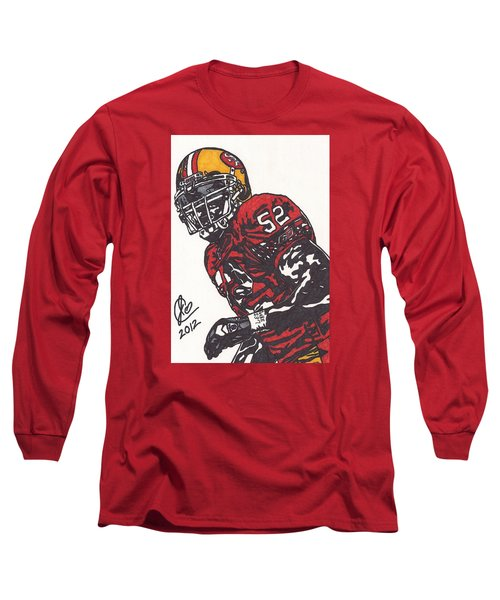 Patrick Willis Long Sleeve T-Shirt by Jeremiah Colley