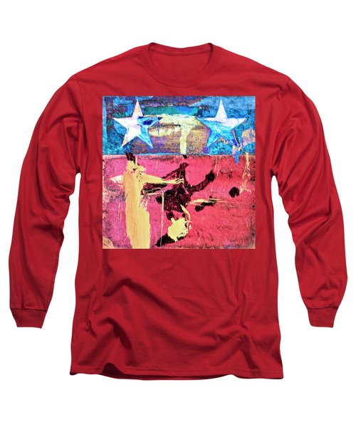 Long Sleeve T-Shirt featuring the painting Patriot Act by Dominic Piperata