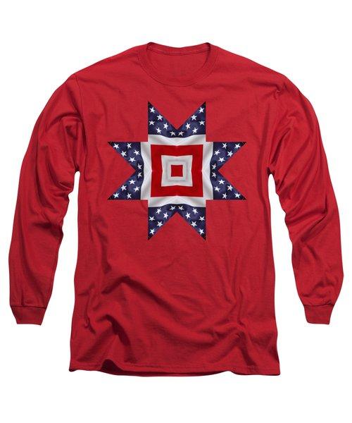 Patriotic Star 1 - Transparent Background Long Sleeve T-Shirt by Jeff Kolker
