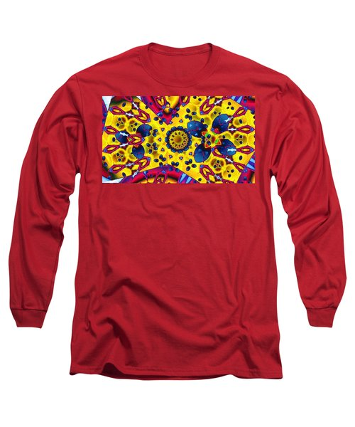 Pattern 2 Intersect Long Sleeve T-Shirt by Ron Bissett