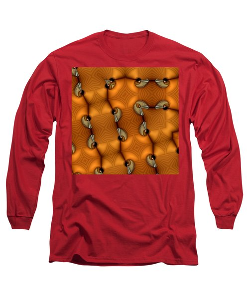 Opposing Patterns Long Sleeve T-Shirt by Ron Bissett