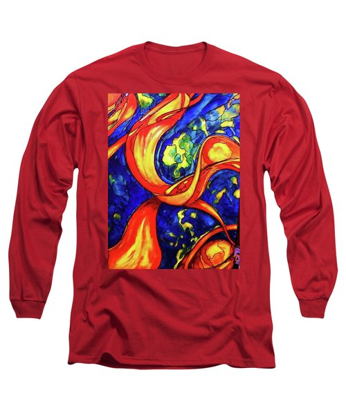 Long Sleeve T-Shirt featuring the painting Peaceful Coexistence by Rae Chichilnitsky
