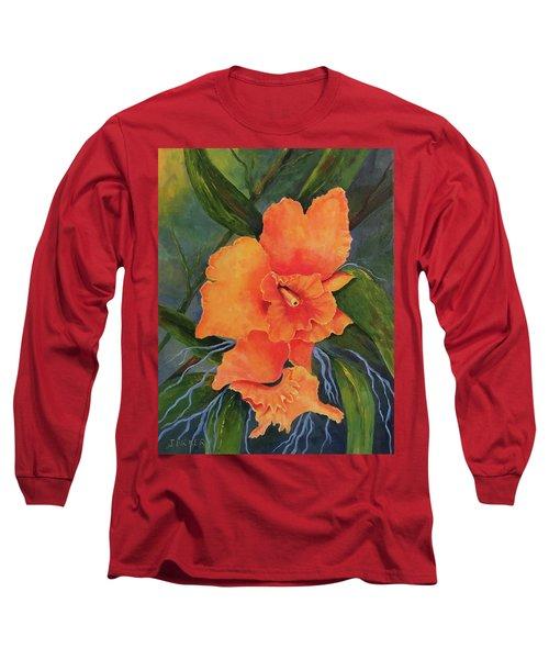 Peach  Blush Orchid Long Sleeve T-Shirt