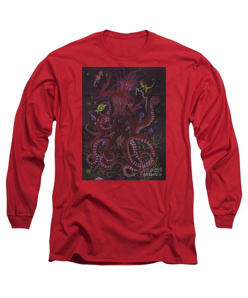 Long Sleeve T-Shirt featuring the drawing Pearls by Dawn Fairies