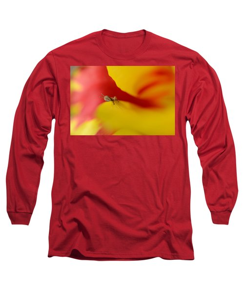 Peeking Long Sleeve T-Shirt by Janet Rockburn