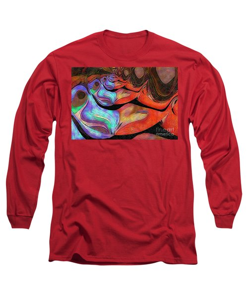 Peeling Back The Layers Long Sleeve T-Shirt by Kathie Chicoine