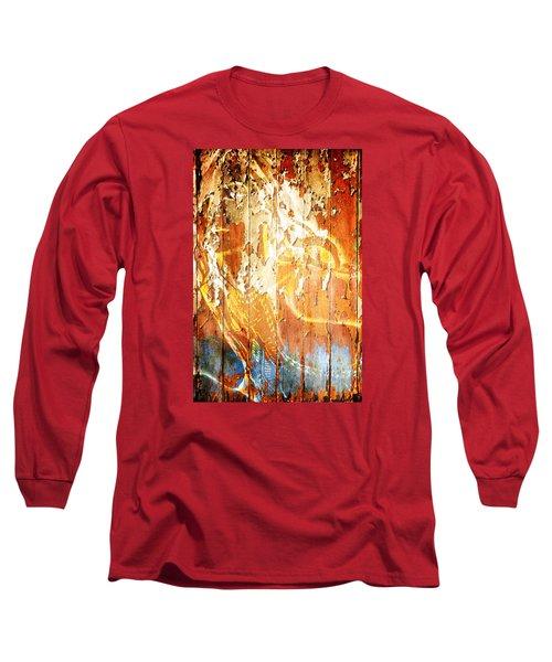 Long Sleeve T-Shirt featuring the digital art Peeling Wall Portrait by Andrea Barbieri