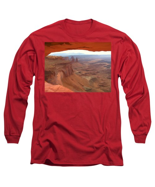 Peering Out 2 Watercolor Long Sleeve T-Shirt