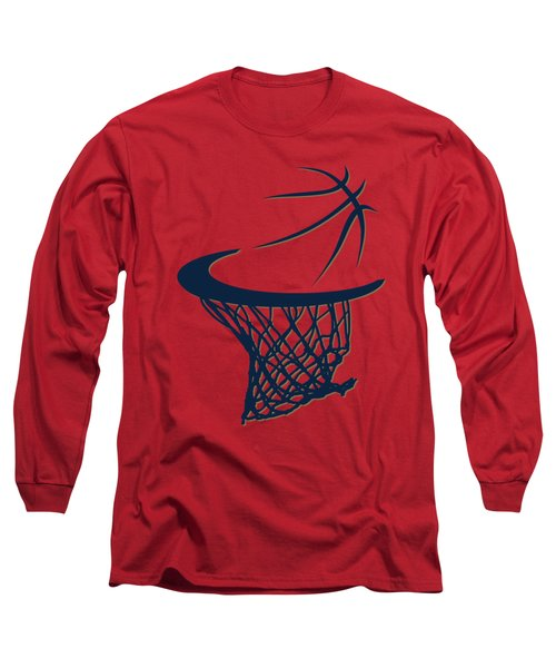 Pelicans Basketball Hoop Long Sleeve T-Shirt by Joe Hamilton