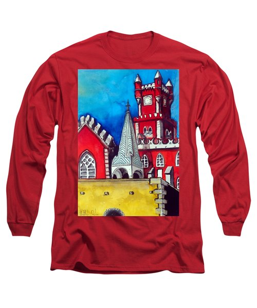 Pena Palace In Portugal Long Sleeve T-Shirt