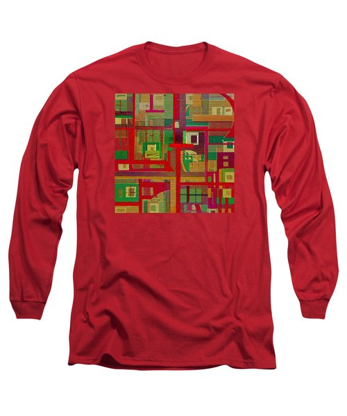 Long Sleeve T-Shirt featuring the painting Penman Original-258 by Andrew Penman