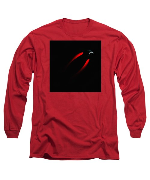 Long Sleeve T-Shirt featuring the painting Penman Original 281 - Fleeing From The Grip Of Terror by Andrew Penman