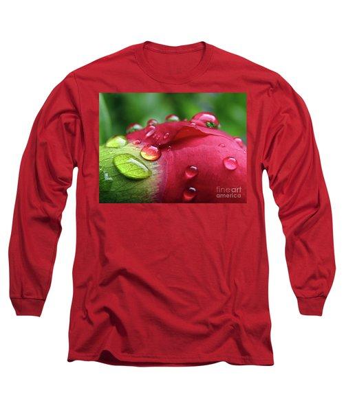 Peony Drops 2 Long Sleeve T-Shirt
