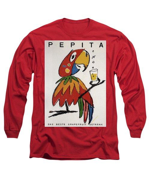 Pepita - Grapefruit Drinks - Vintage Advertising Poster Long Sleeve T-Shirt