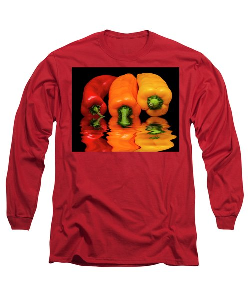 Long Sleeve T-Shirt featuring the photograph Peppers Red Yellow Orange by David French