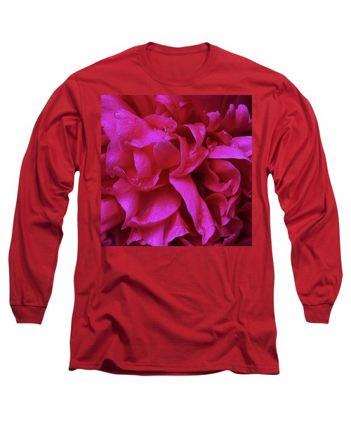 Perfectly Pink Peony Petals Long Sleeve T-Shirt
