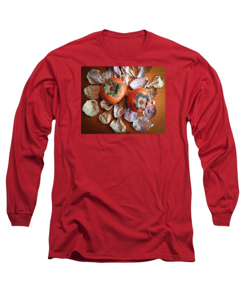 Persimmons 6 Long Sleeve T-Shirt by Ronda Broatch