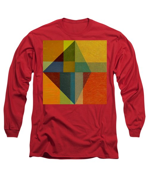 Perspective In Color Collage Long Sleeve T-Shirt