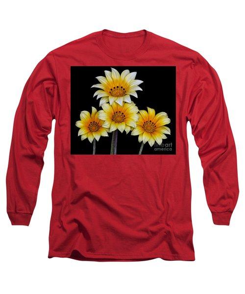 Peruvian Daisies Long Sleeve T-Shirt by Shirley Mangini