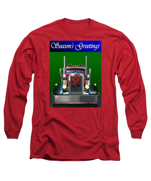 Pete Season's Greetings Long Sleeve T-Shirt by Stuart Swartz