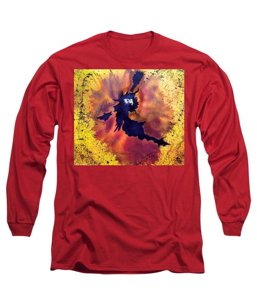 Long Sleeve T-Shirt featuring the painting Pete's Speed Of Light by Albert Puskaric