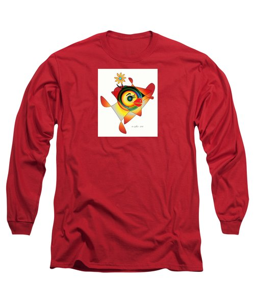 Petunia Parrot Long Sleeve T-Shirt by Iris Gelbart