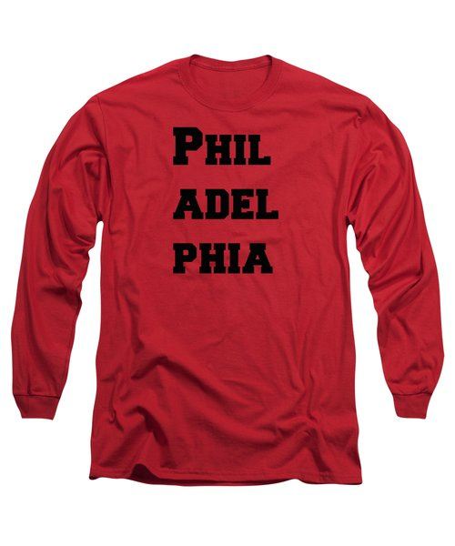 Philadelphia In Pink Long Sleeve T-Shirt by Alice Gipson