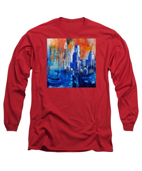 Philadelphia Skyline 227 1 Long Sleeve T-Shirt by Mawra Tahreem