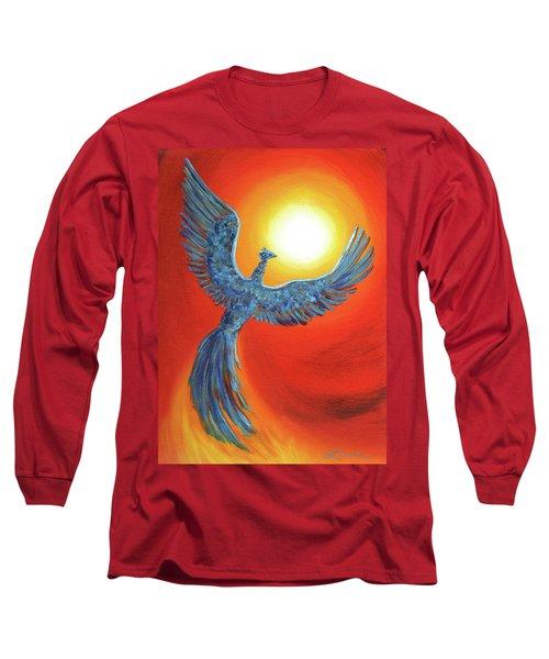 Phoenix Rising Long Sleeve T-Shirt by Laura Iverson