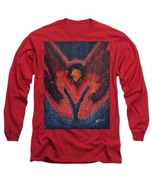Phoenix Rising Original Painting Long Sleeve T-Shirt