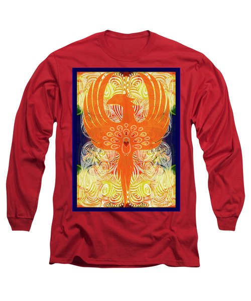 Phonix Rising Abstract Healing Art By Omashte Long Sleeve T-Shirt