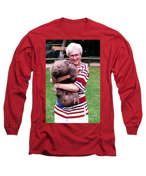 Phyllis Holding Thirty Lb Wombat Australia Long Sleeve T-Shirt