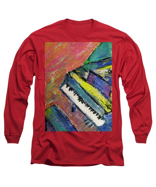 Piano With Yellow Long Sleeve T-Shirt