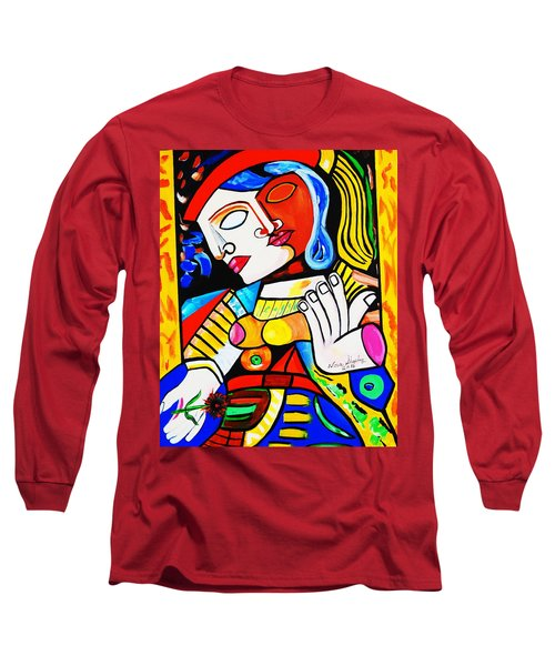 Picasso By Nora Turkish Man Long Sleeve T-Shirt by Nora Shepley