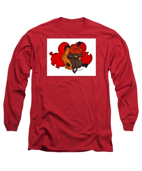 Picking Up The Pieces Long Sleeve T-Shirt by Diamin Nicole