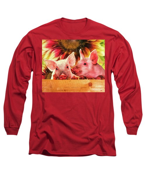 Piglet Playmates Long Sleeve T-Shirt