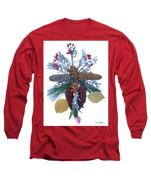 Long Sleeve T-Shirt featuring the digital art Pine Cone Bouquet by Lise Winne